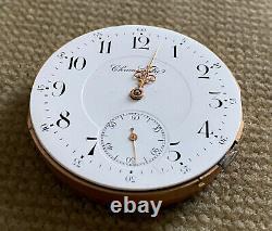 Chronometre high Grade Uhrwerk für Taschenuhr Chronometerhemmung 43,7 mm 1900