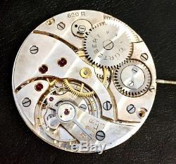 Cortbert 616 / 618 / 620 pocket watch movement serviced, oiled, overhauled