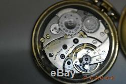 Cortebert pocket watch movement 624 17 jewels 10 kerat gf very good working
