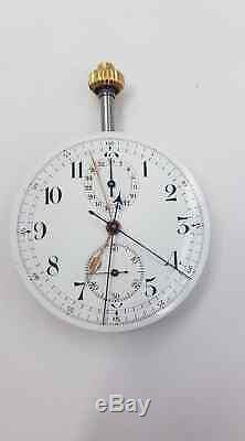 Double Rattrapante Chronograph 44mm Pocket Watch Movement