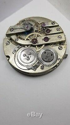 Durant Locle High Grade Swiss Pocket Watch Movement 43.5 mm Ticking Dial F1258