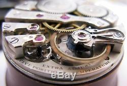 E. Howard 16s Pocket Watch Movement & Dial 19 jewels adj. For parts OF serie 5