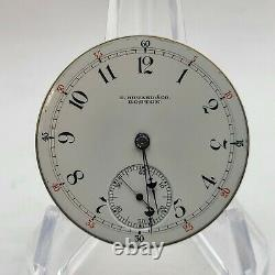 E. Howard Co. Boston PWM Series XII 16S L Great Dial/Hands 1896 Running