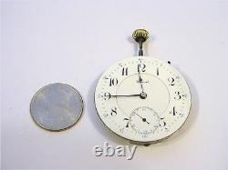 E. Howard & Co. Boston Pocket Watch Movement Series 0 16S 23J Serviced