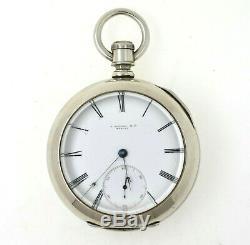 E. Howard N Size Series II Keywind Pocket watch Movement #2732 RARE & RUNS
