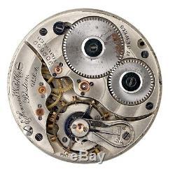 E Howard Watch Co Boston USA Pocket Watch Movement Spares & Repairs Q66