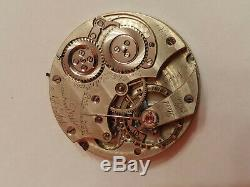 EXTREMELY RARE F. A Jones IWC Pattern H pocket watch movement AS IS balance OK
