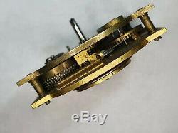 Early Chain Fusee Sedan clock movement J Tice LONDON Verge Fusee Pocket watch