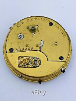 Early English Center Seconds Pocket Watch Movement (TR Thomas Russell) (P56)