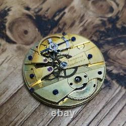 Early Vacheron & Constantin Cylinder Pocket Watch Movement, High Quality (C173)