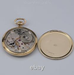 Edouard Koehn extra flat Geneva pocket watch extremely reduced movement 1905