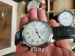 Elgin 16s Pocket Marriage Watch Conversion 50mm Wristwatch 1914 Movement