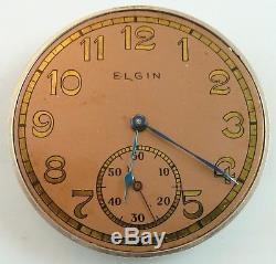 Elgin B. W. Raymond Complete Running Pocket Watch Movement Parts / Repair