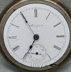 Elgin Gm Wheeler Pocket Watch 18s Grade 144 Model 3 17j Sidewinder Runs