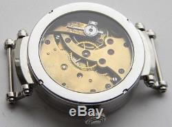 Engraved Wristwatch Cases With Thin Bottom Frame For Pocket Watch Movements