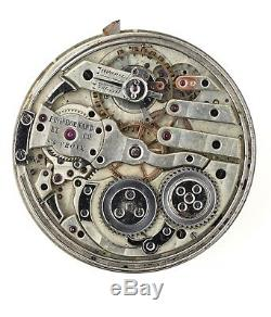 Eugene Bornand Et Cie Ste Croix Swiss Minute Repeating Pocket Watch Movement H49