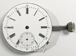 Extremely Rare Antique Tandem Wind Independent Seconds Pocket Watch Movement