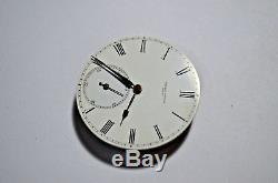 Extremely Rare Ulysse Nardin Movement 8 Days 1860's Double Barrel Dial 10 Points