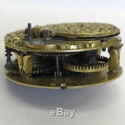 Fine Antique C1740 Verge Pocket Watch Movement Fra Raynsford London 4cm Rare