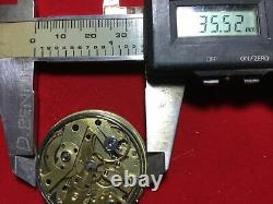 Fine Repeater Unbranded Pocket Watch Movement Dial And Hands Tries To Run