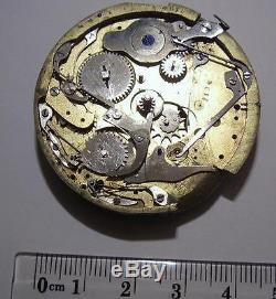 For Spares Antique Repeater Pocket Watch Incomplete Movement 45.5 mm Rare