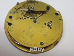 Frodsham Chronometer Pocket Watch Movement