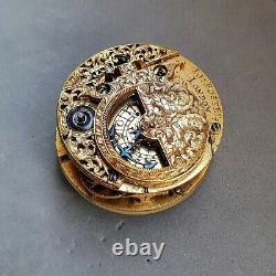 Fster 1690s English movement m-pendulum oignn pocket watch verge fusee