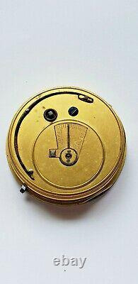 Fusee Pocket Watch Movement with up/ down power indicator