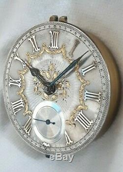 Fusee Pocket Watch Silver & Gold Dial movement. (FULL WORKING ORDER) 1880s