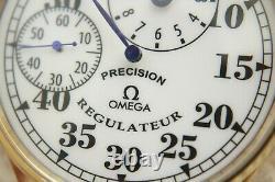 GOLD REGULATOR Vintage 1910`s Omega Pocket Swiss movement in New wrist Men Case
