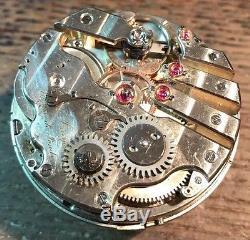 Girard Perregaux Escape Detent Pocket Watch Movement & Enamel Dial Stem to 3