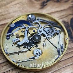 Good Quality French Cylinder Repeater Pocket Watch Movement to Restore (BS47)