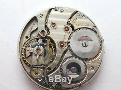 Gruen Swiss Watch jewels High grade POCKET WATCH MOVEMENT not works (X27)