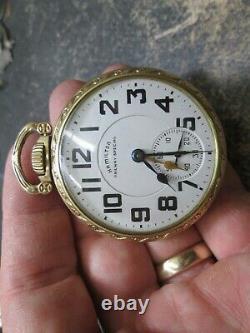 HAMILTON 21J RAILROAD FANCY CASE RUNNING 992B DUO TIME MOVEMENT Pocket Watch