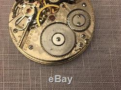HAMILTON 993 21J Adjusted 5 Position Double Roller POCKET WATCH MOVEMENT & DIAL