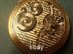HAMILTON RAILWAY SPECIAL pocket watch10k gold fl case21jewel movement6adj. Runs