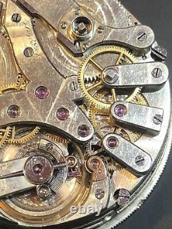 HENRI BERTHOUD pocket watch movement Split Second
