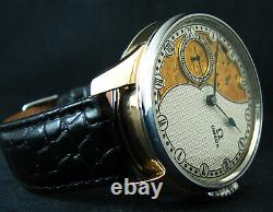 Half-Skeleton marriage Chronometer pocket watch with antique 1900 movement