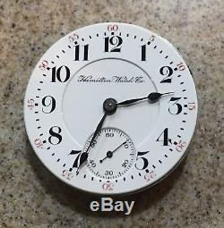 Hamilton 18s 21j 940 Pw Ls Pocket Watch Movement And Dial