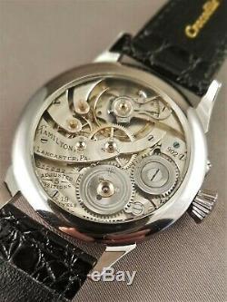 Hamilton 902 Wristwatch. 19 jewels. Pocket watch movement conversion