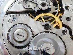 Hamilton 974 Antikes Taschenuhr Pocket watch werk Movement (W45)