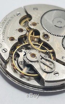 Hamilton Grade 976 Pocket Watch Movement Open 16s 16j Rare ticking Private F985