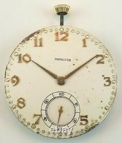 Hamilton Pocket Watch Movement Grade 921 Spare Parts / Repair