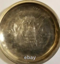 Hamilton THE UNION 18S. 17 jewel grade 924 gold trimmed movement (1902) silverode
