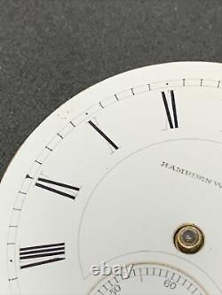 Hampden Dueber Pocket Watch Movement 21j 18s Openface Railroad Ticking F2017
