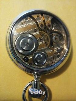 Hampden very nice 16S. (1915) 17 jewels Two-tone Movement Salesman display case