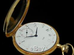 Heavey Solid 18k Yellow Gold Tiffany 48 MM Pocket Keeps Time To Be Restored