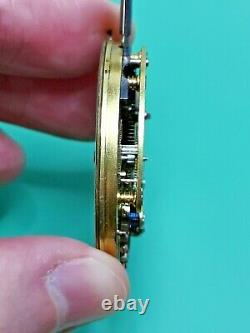 Helical Hairspring Detent Chronometer Pocket Watch Movement, For Repair (P108)