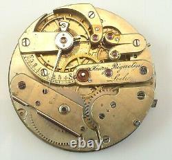 Henry Beguelin Pocket Watch Movement High Grade Swiss Parts / Repair