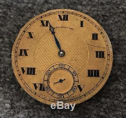 Henry Moser & Co & Burlington Watch Co 21J 5 ADJ RAILROAD Pocket Watch Mouvement
